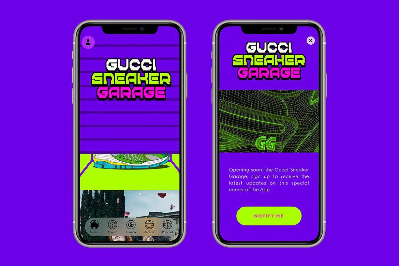 Gucci的Sneaker Garage App可让用户自行设计虚拟鞋子