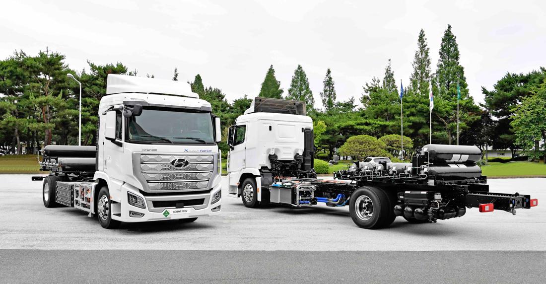 权威认证 现代汽车XCIENT Fuel Cell氢燃料重卡获氢能与燃