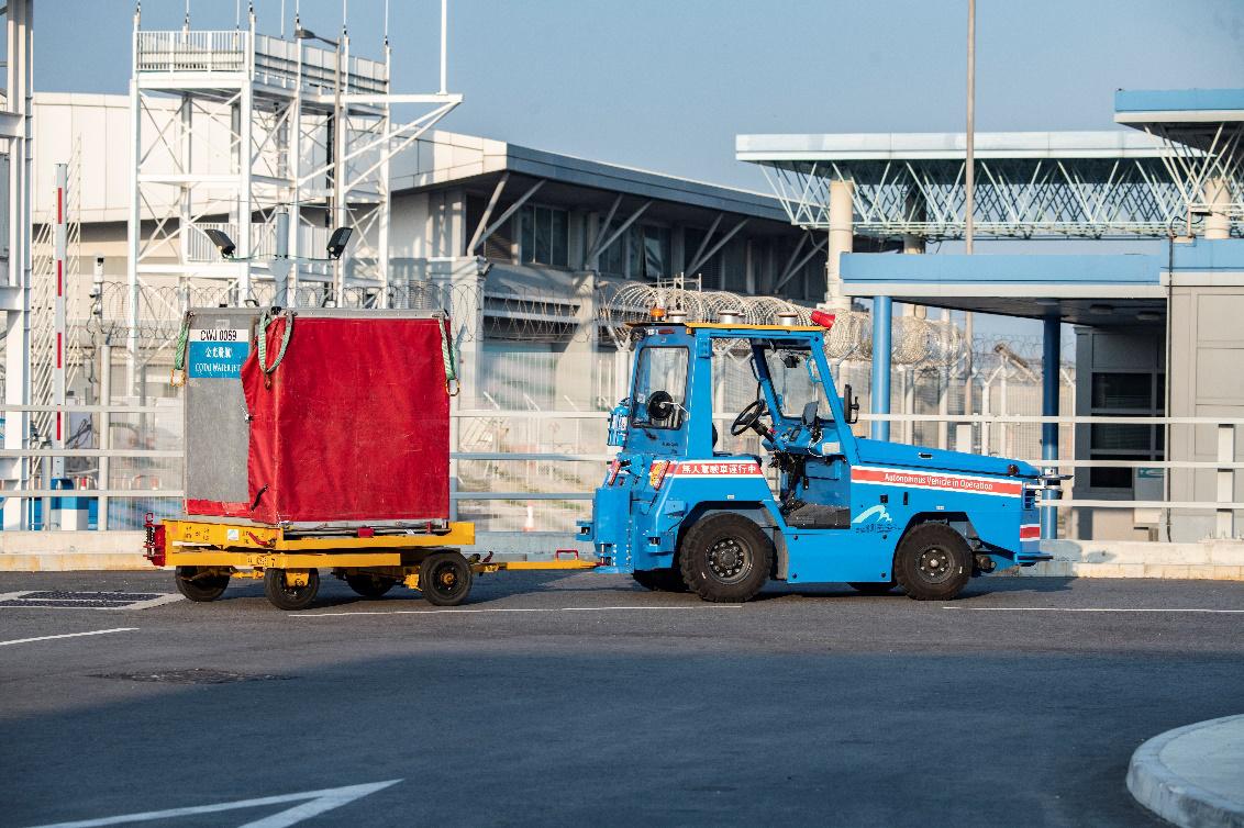 香港国际机场宣布2021年第一季度全面启用驭势科技无人驾驶拖车