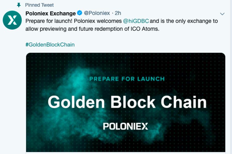 Poloniex上线计划:首个黄金区块链加密虚拟货币GDBC