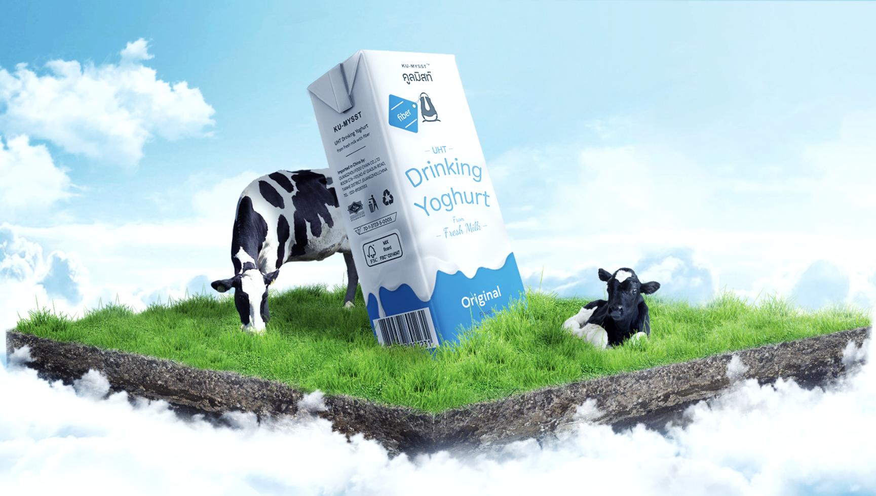 两千亿酸奶市场竞争升级,泰国渴麦师KU-MYSST零添加酸奶进驻中国市场