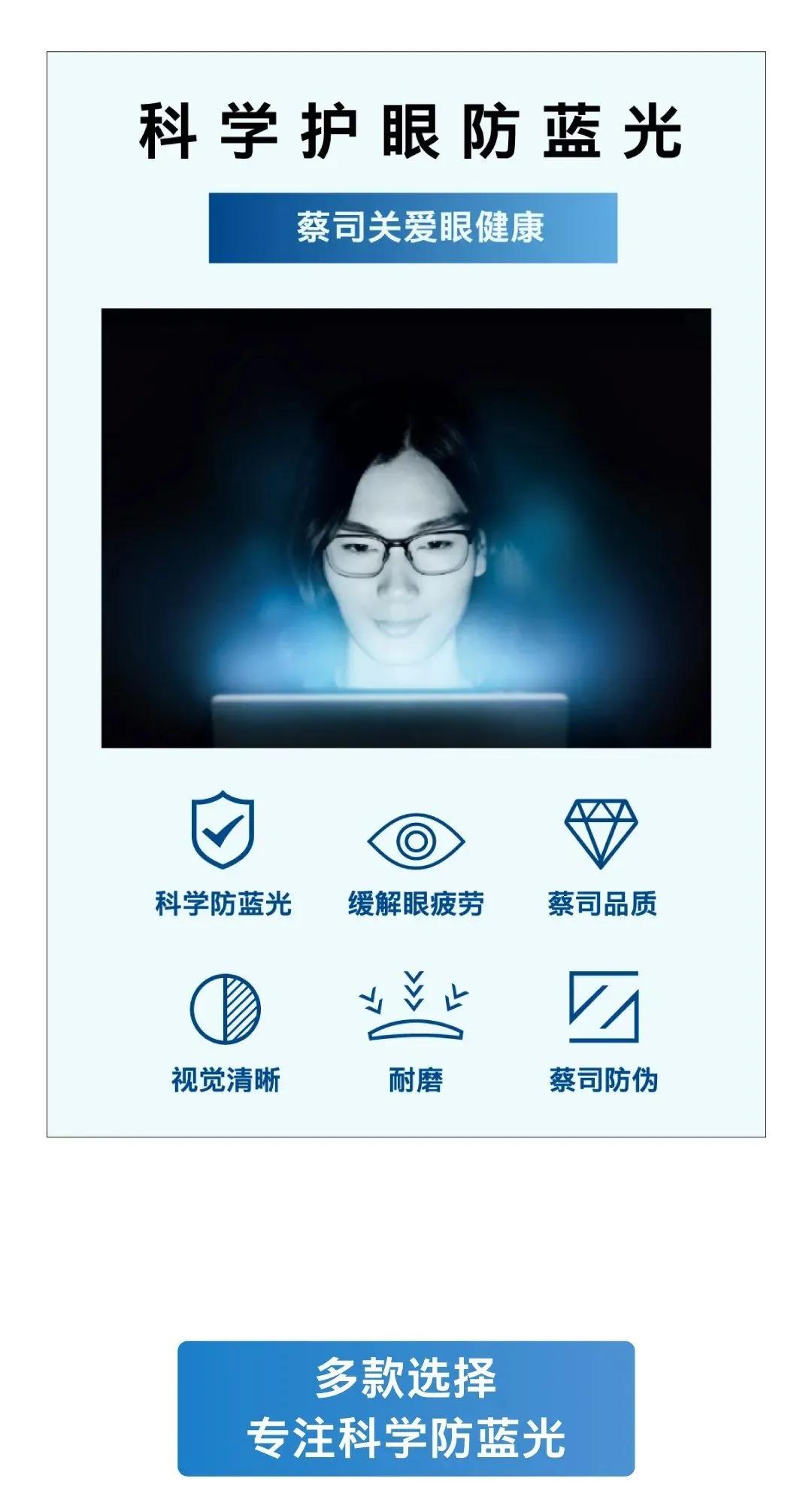 防辐射眼镜有用吗,一键解密蔡司防蓝光镜片