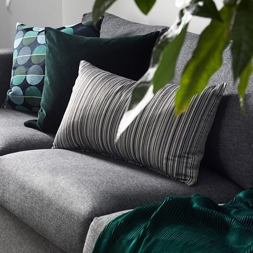 SANELA 桑尼拉 垫套 IKEA 棉绒为颜色增添了深度,并增强了柔软的触感。 带拉链,靠垫套拆卸方便。