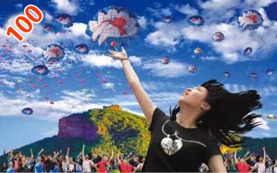 建党100年放飞中国梦