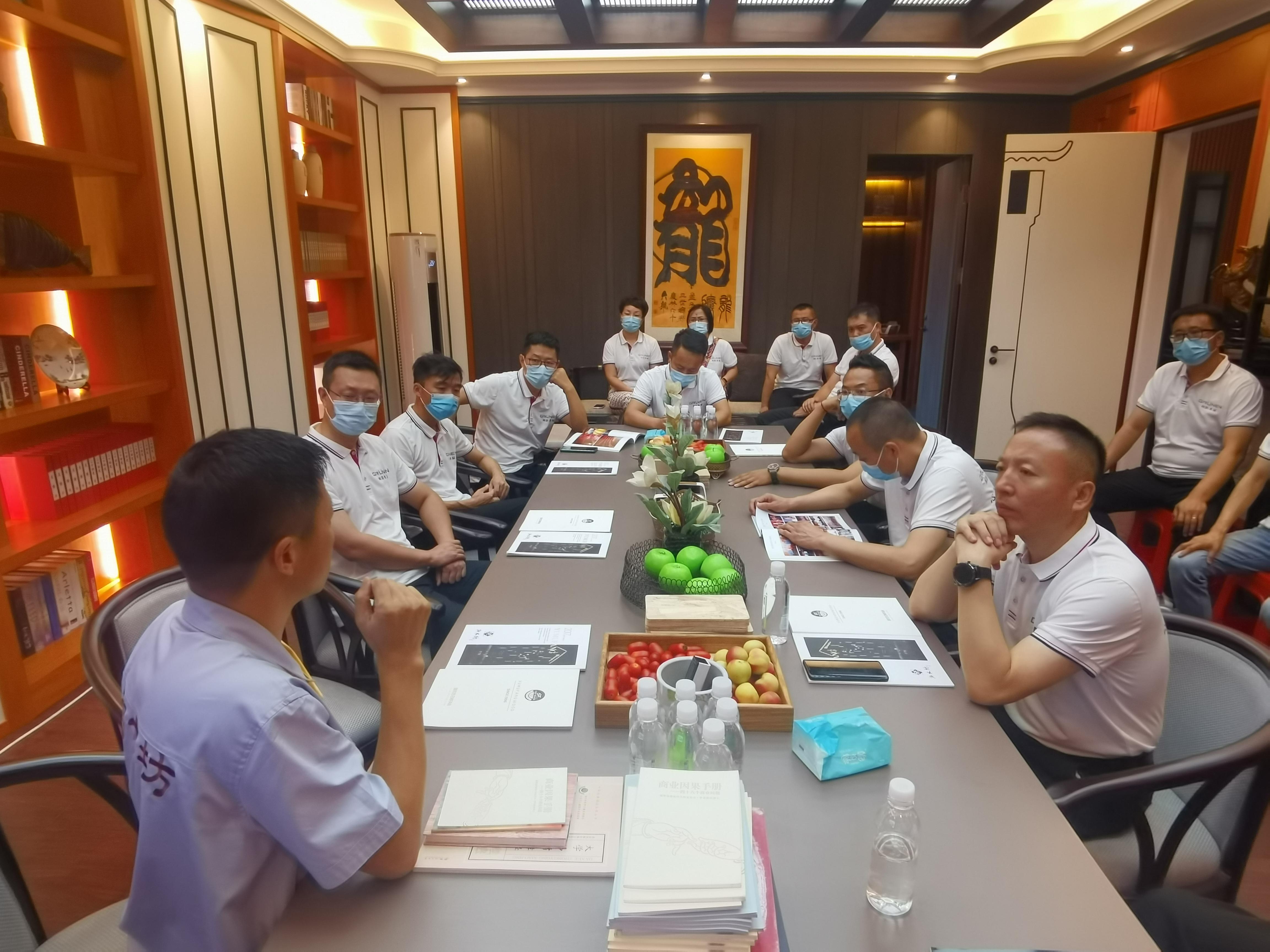 哈尔滨阁韵窗业中高层管理团队赴御木坊学习考察!