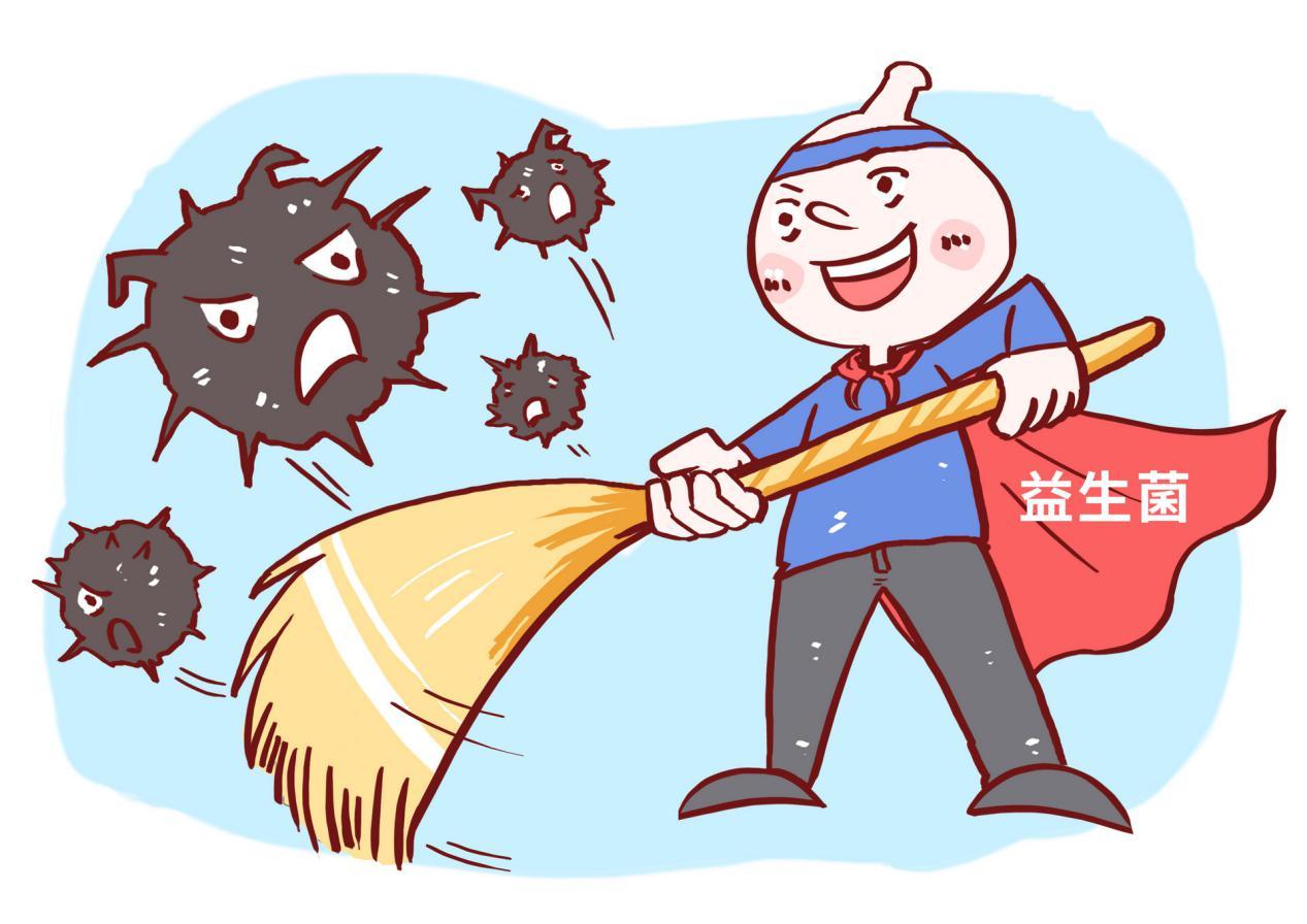 摄图网_400862695_banner_益生菌清扫垃圾漫画(非企业商用) (1)