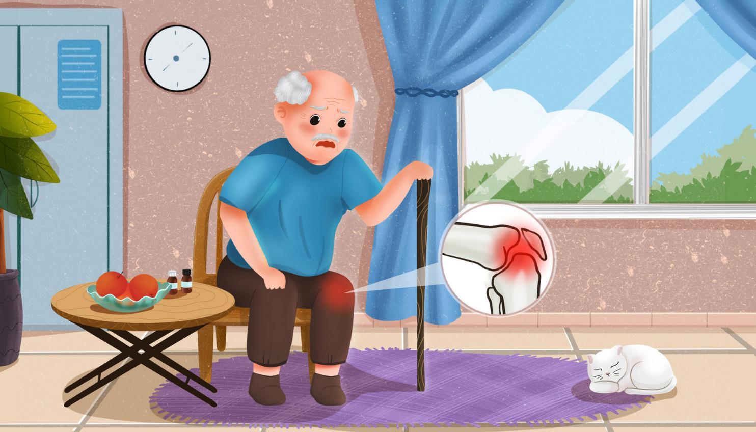 摄图网_401803643_banner_老人坐在椅子上关节炎疼痛(非企业商用)