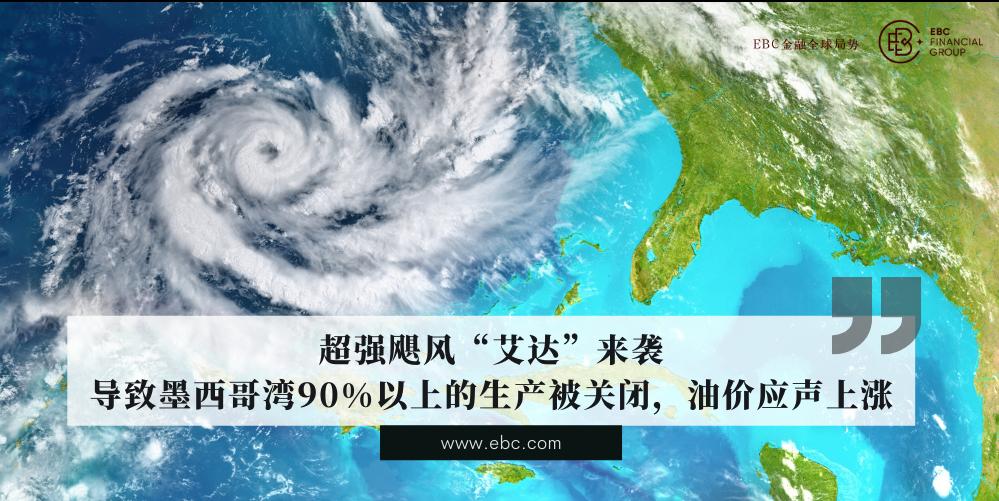 """EBC金融:超强飓风""""艾达""""来袭,油价应声上涨,本周美国非农数据即将出炉"""