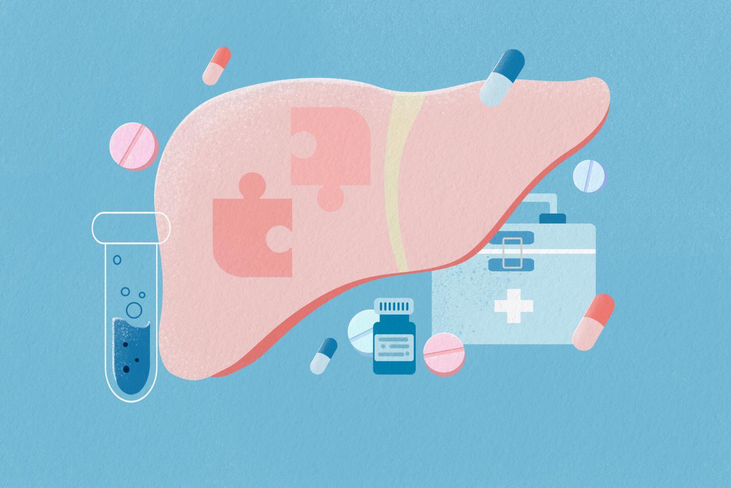 摄图网_401907007_banner_身体器官医疗插画肝脏扁平插画(非企业商用)