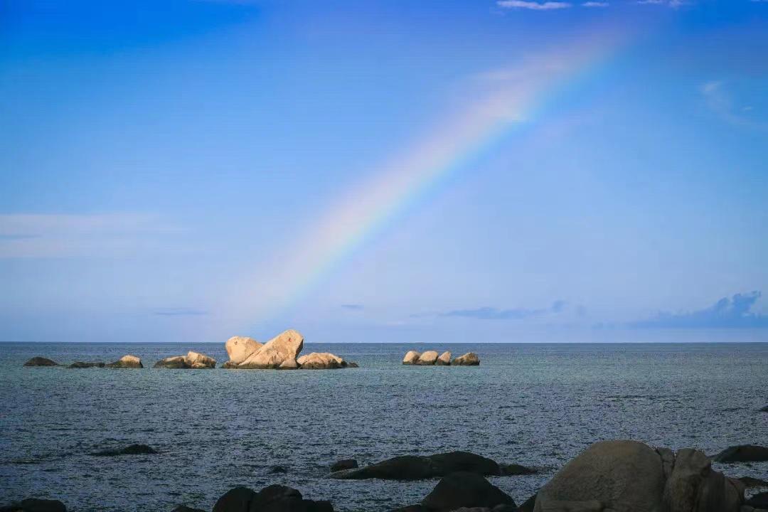 冬季旅游到三亚天涯海角景区